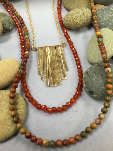 Gold Fill Waterfall Necklace with Beads